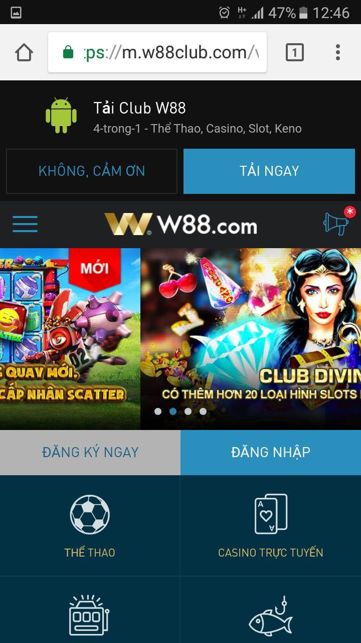 Hướng dẫn sử dụng W88 để cá cược trên điện thoại di động