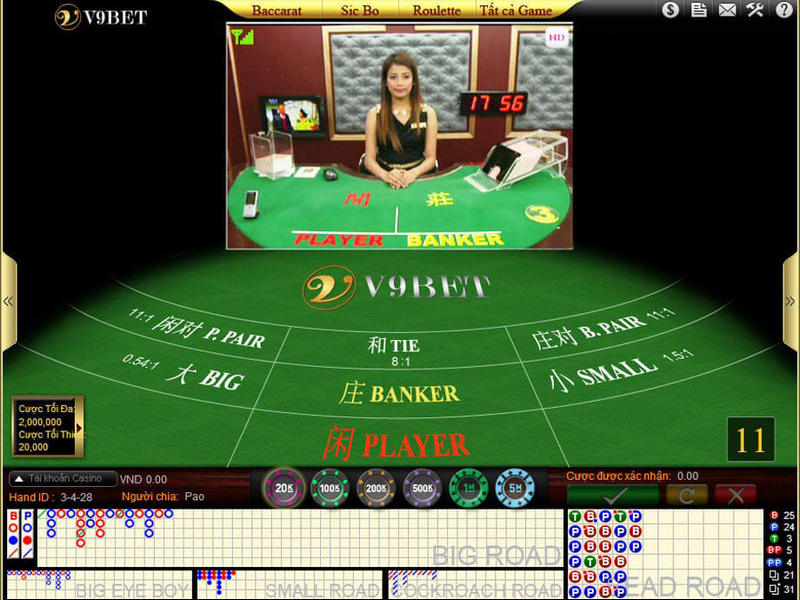 Hướng dẫn chơi Baccarat trực tuyến tại nhà cái casino V9Bet