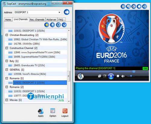 Sopcast là gì? Hướng dẫn sử dụng phần mềm Sopcast xem bóng đá