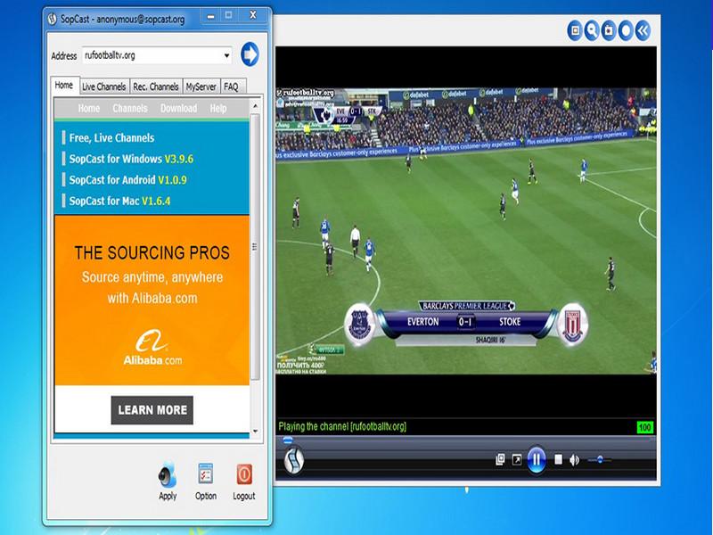 Hướng dẫn cài đặt và sử dụng Sopcast xem bóng đá trực tuyến