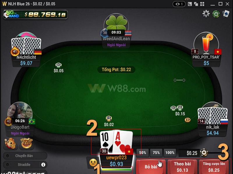 W88 ra mắt ứng dụng chơi Poker Online trên di động với nhiều tiện ích