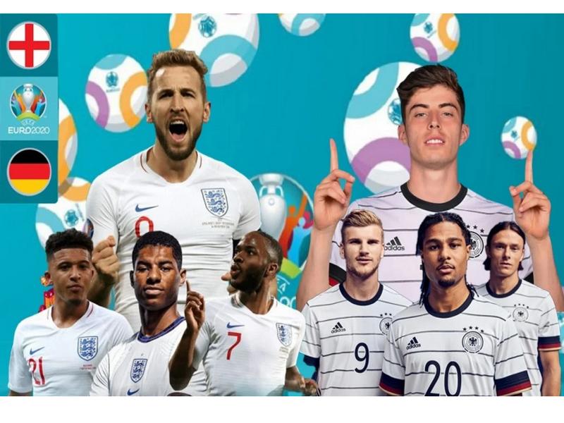 Anh vs Đức tại vòng 1/8 EURO 2020: Trận cầu siêu kinh điển 1