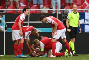 Eriksen đột quỵ ngay trên sân bóng Euro 2021 khiến người hâm mộ lo lắng