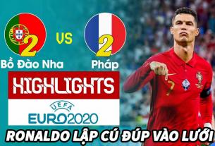 Hòa 2-2 trước Pháp, Bồ Đào Nha thuận lợi vượt qua vòng bảng Euro 2021