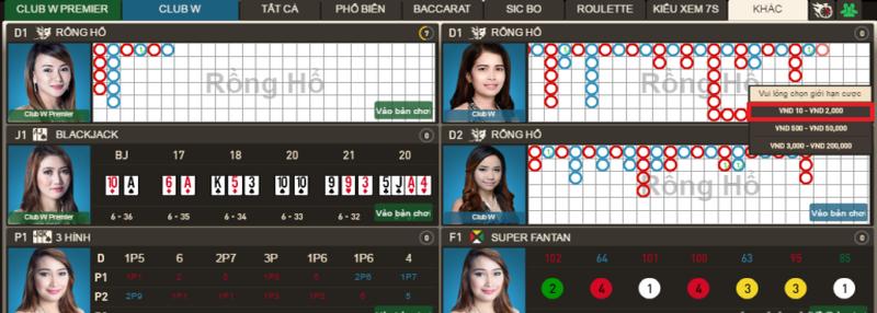 Hướng dẫn cách chơi Rồng Hổ online tại nhà cái W88