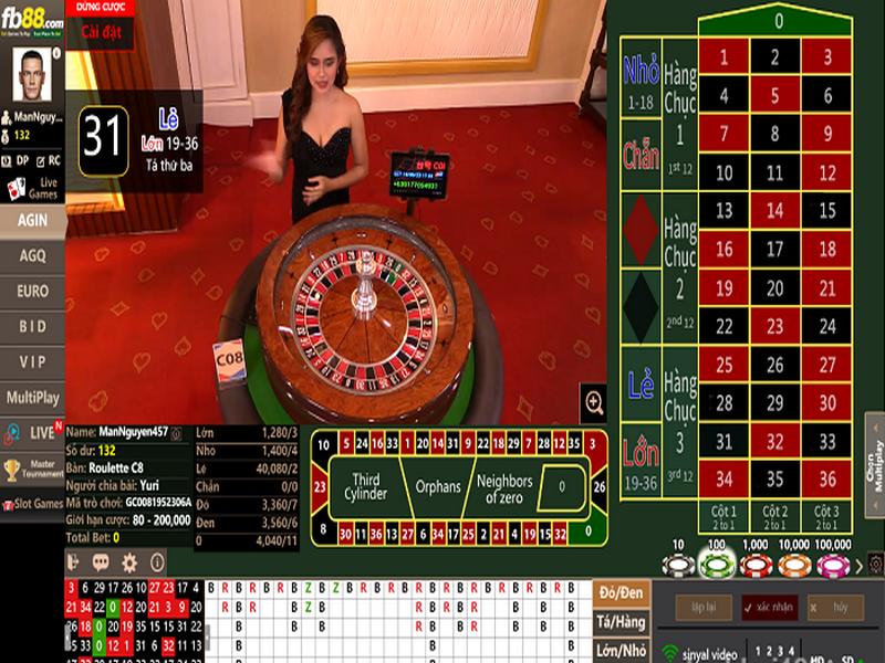 Hướng dẫn cách chơi Roulette tại nhà cái FB88