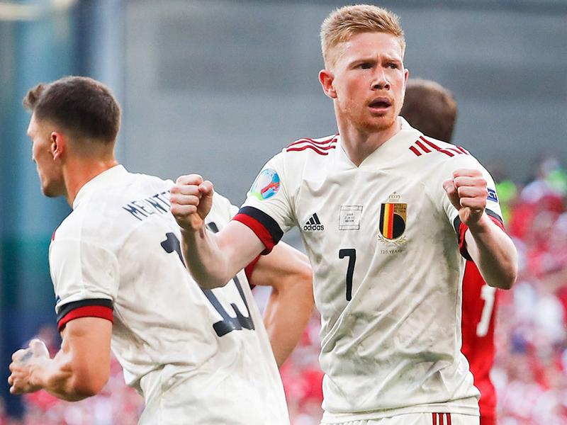 Kết quả Euro 2021 Bỉ vs Đan Mạch 18/6: Kevin de Bruyne như thủ lĩnh dải ngân hà