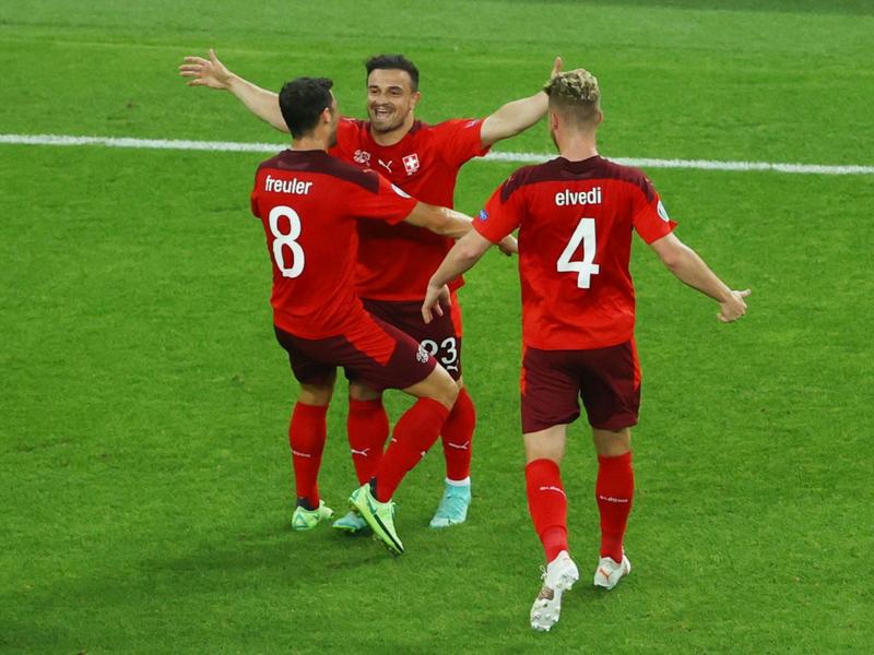 Thụy Sĩ đang xếp thứ 3 bảng A Euro 2021, kết quả chờ các bảng sau
