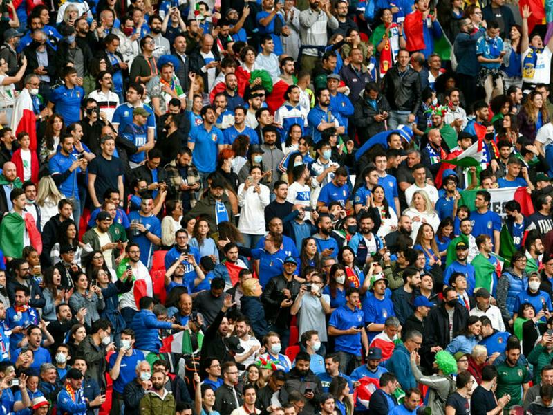 1.000 CĐV Ý được đến sân Wembley để xem trận chung kết Euro 2020 1