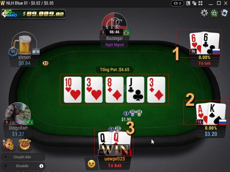 5 mẹo vặt hữu ích giành cho người chơi xì tố Poker online