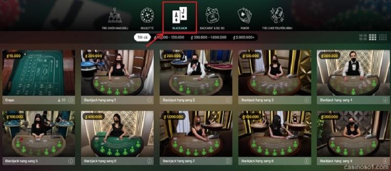 Hướng dẫn chơi Blackjack chi tiết tại nhà cái casino HappyLuke