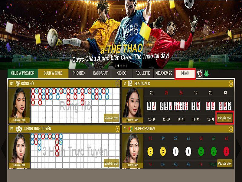 Hướng dẫn cách chơi Blackjack tại nhà cái casino W88 chi tiết