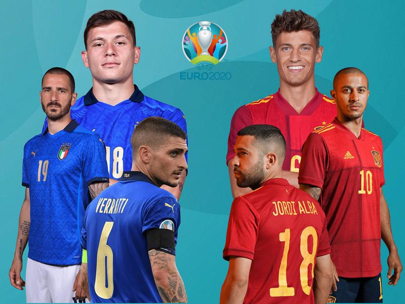 Kết quả bóng đá Ý vs Tây Ban Nha Euro 2020: Diễn biến đầy kịch tính