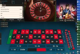 Trải nghiệm trò chơi Roulette có người thật tại nhà cái casino HappyLuke