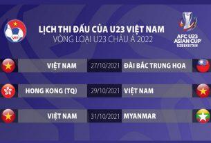 CHÍNH THỨC: Lịch thi đấu của U23 Việt Nam tại Vòng loại U23 Châu Á 2022